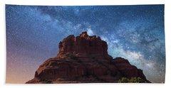 Below The Milky Way At Bell Rock Beach Towel