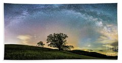 Below The Milky Way At The Blue Ridge Mountains Beach Towel