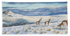 Belt Butte Winter Beach Towel