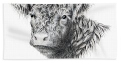 Beltie Beach Towel by Sandra Moore