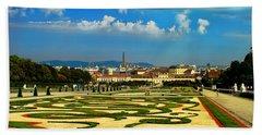 Beach Sheet featuring the photograph Belvedere Palace Gardens by Mariola Bitner