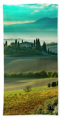 Beach Towel featuring the photograph Belvedere - Tuscany II by Brian Jannsen