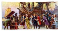 Ben Franklin Returns To Philadelphia Beach Sheet by War Is Hell Store