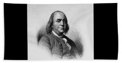 Beach Sheet featuring the photograph Ben Franklin by Richard W Linford