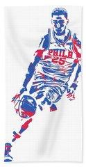 Ben Simmons Philadelphia Sixers Pixel Art 1 Beach Towel