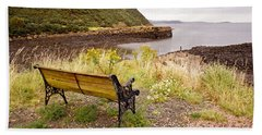 Bench At The Bay Beach Towel