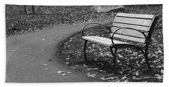 Bench On The Walk Beach Towel