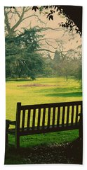 Bench Under A Tree Beach Towel