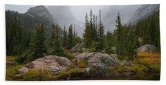 Beach Sheet featuring the photograph Beneath Hallett Peak by Dustin LeFevre