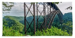 Beneath New River Gorge Bridge Beach Towel