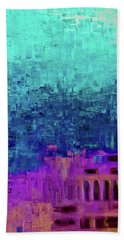 Beneath The Surface Painting Beach Towel