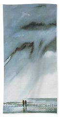 Beneath Turbulent Skies Beach Towel