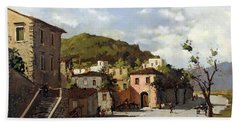 Provincia Di Benevento-italy Small Town The Road Home Beach Towel