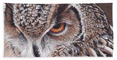 Bengal Eagle Owl Beach Towel