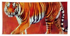 Bengal Tiger  Beach Towel by Mark Adlington