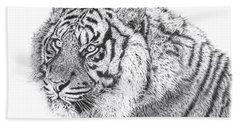 Bengal Tiger Beach Towel