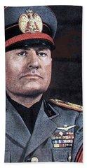 Benito Mussolini Color Portrait Circa 1935 Beach Towel