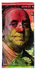 Benjamin Franklin $100 Bill - Full Size Beach Sheet