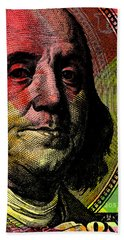 Benjamin Franklin - $100 Bill Beach Towel
