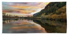 Benson State Recreation Area In Fall Beach Towel