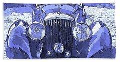 Beach Towel featuring the digital art Bentley Blue Pop Art P2 by David King