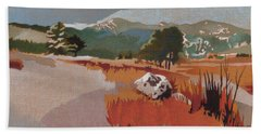 Bergen Peak First Snow Beach Towel