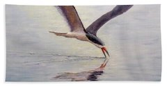 Beach Sheet featuring the painting Black Skimmer by Joe Bergholm