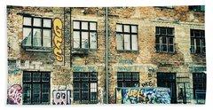 Berlin House Wall With Graffiti  Beach Sheet