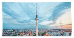 Berlin Twilight Panorama Beach Towel