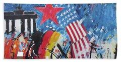 Berlin Wall Art 6 Beach Sheet