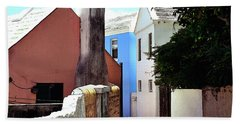 Beach Towel featuring the photograph Bermuda Backstreet by Richard Ortolano