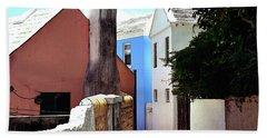 Bermuda Backstreet Beach Sheet by Richard Ortolano
