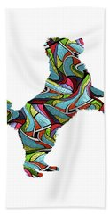 Bernese Mountain Dog Spirit Glass Beach Towel