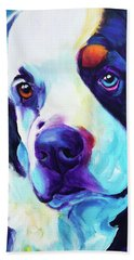 Bernese Mountain Dog - Zeke In Blue Beach Towel