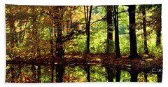 Bernharts Dam Fall 006 Beach Towel