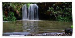 Beach Towel featuring the photograph Berowra Waterfall by Werner Padarin