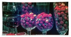 Berries In The Window Beach Sheet