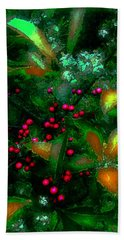 Beach Towel featuring the photograph Berries by Iowan Stone-Flowers