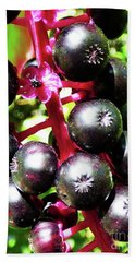 Wild Purple Pokeweed Berries  Beach Sheet