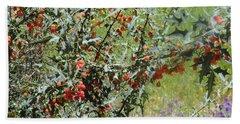 Berries On The Vine Beach Sheet