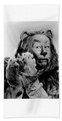 Bert Lahr As The Cowardly Lion In The Wizard Of Oz Beach Towel