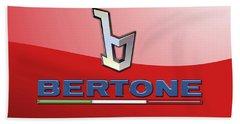 Bertone 3 D Badge On Red Beach Towel