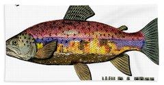 Beach Sheet featuring the digital art Fishing - Best Caught Wild - On Light No Hat by Elaine Ossipov
