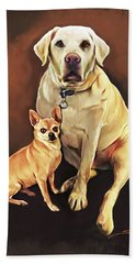 Best Friends By Spano Beach Towel by Michael Spano