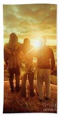Best Friends Greeting The Sun Beach Sheet by Jorgo Photography - Wall Art Gallery