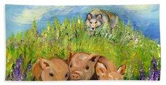 Beach Sheet featuring the painting Best Friends by Karen Ferrand Carroll