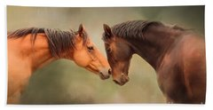 Best Friends - Two Horses Beach Towel