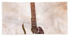 Best Guitarists Typography Warm Beach Towel by Dan Sproul