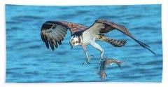 Best Osprey With Fish In One Talon Beach Towel