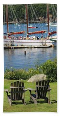 Best Seats In Bar Harbor Maine Beach Sheet by Living Color Photography Lorraine Lynch